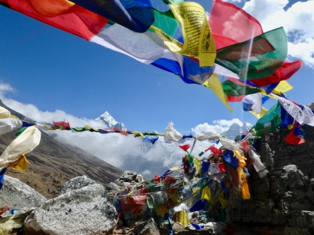 Stopping at the Everest memorials