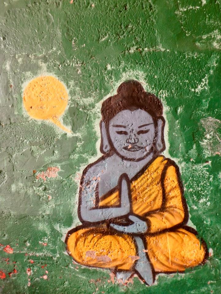 Yogi graffiti in Pokhara