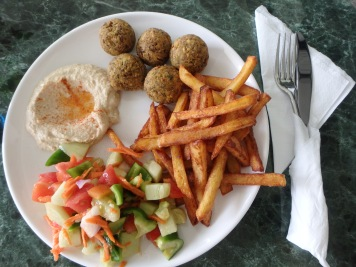 Delicious GF falafel and chips!